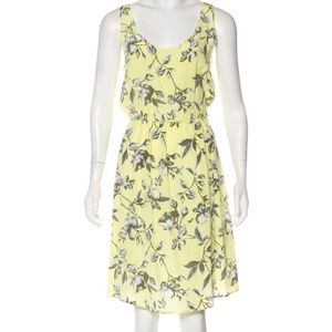 Joie silk yellow floral dress S